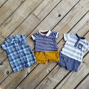 One Piece Infant Button Up